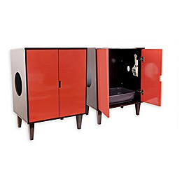 CatWalk Litter Cabinet in Brown/Rust