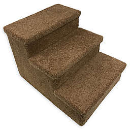 Dog/CatLife 3-Step Carpeted Pet Stairs