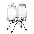 Home Essentials Del Sol Twin 1-Gallon Beverage Dispensers on Metal Rack