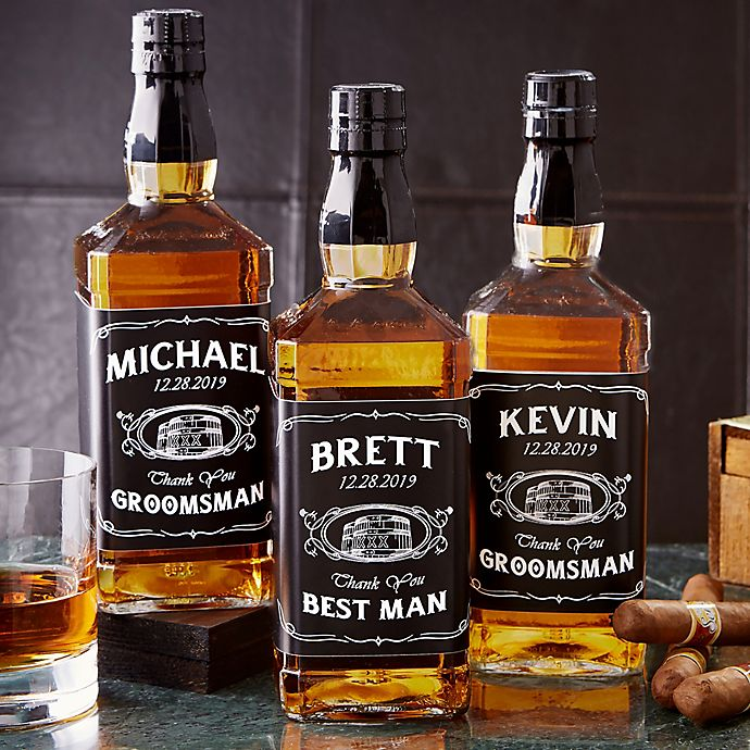 Alternate image 1 for Groomsmen Whiskey Bottle Label