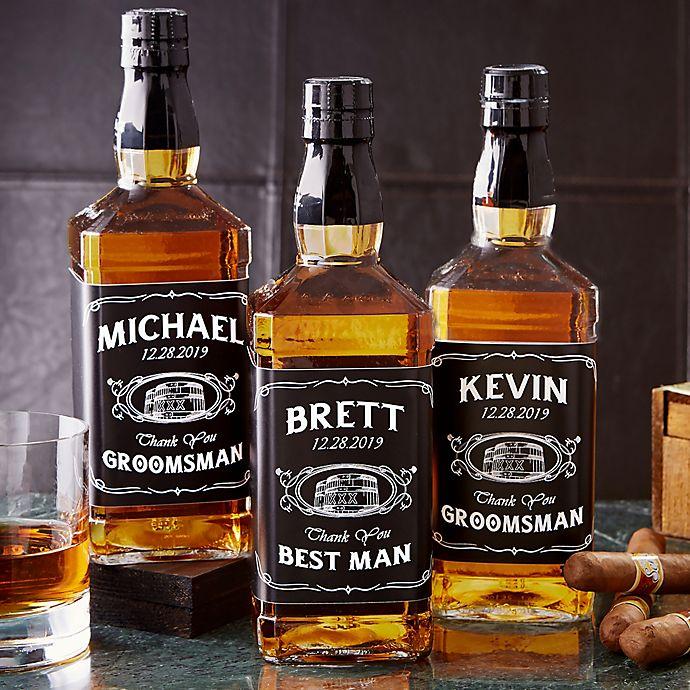 Alternate image 1 for Groomsmen Whiskey Bottle Label