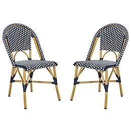 Safavieh Salcha Indoor-Outdoor French Bistro Stacking Side Chair (Set of 2)