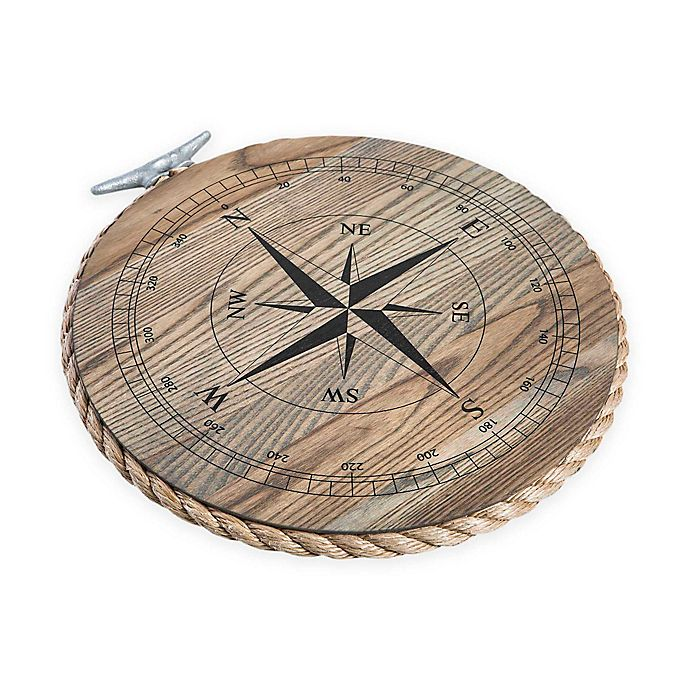 Alternate image 1 for J. K. Adams Co. 14-Inch Round Serving Tray with Compass in Ash