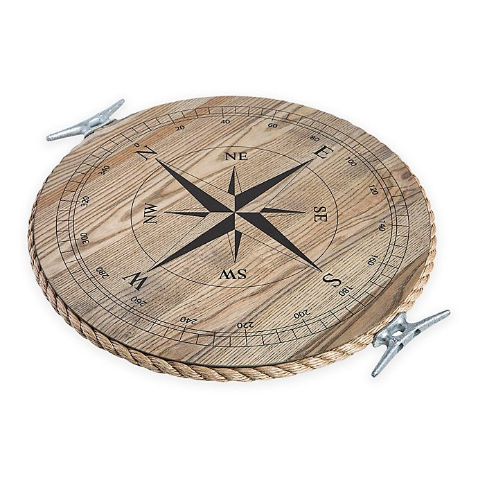 Alternate image 1 for J. K. Adams Co. 18-Inch Round Serving Tray with Compass in Ash