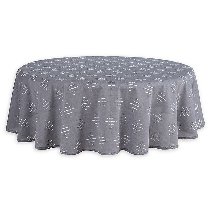 70 Inch Round Table Cloth.Oki 70 Inch Round Tablecloth In Blue Bed Bath Beyond
