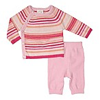 Cuddl Duds® Newborn Knit Cardigan and Pant Set in Pink