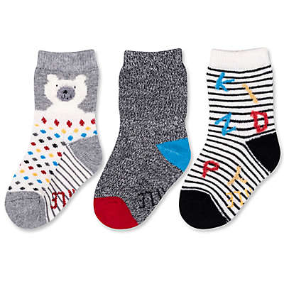 ED Ellen DeGeneres 3-Pack Polar Bear Crew Socks in Grey