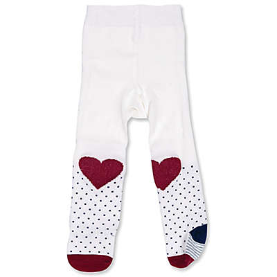 ED Ellen DeGeneres Heart Tights in White/Red