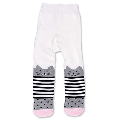ED Ellen DeGeneres Cat Tights in White/Grey