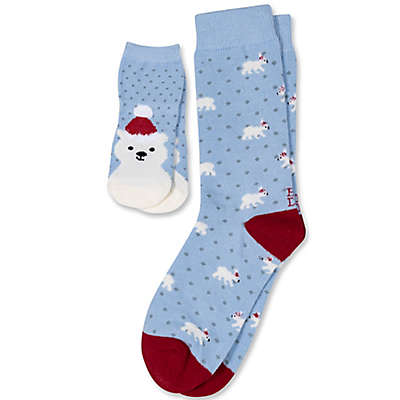 ED Ellen DeGeneres 3-Pack Polar Bear Socks in Blue