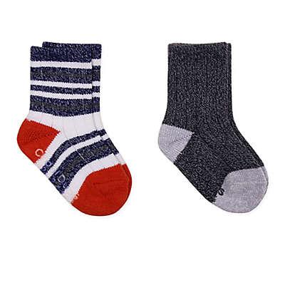 Cuddl Duds® 2-Pack Crew Socks in Navy/Grey