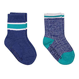 Cuddl Duds® 2-Pack Boot-Cut Socks in White/Navy
