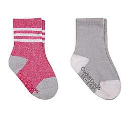 Cuddl Duds® 2-Pack Boot-Cut Socks in Pink/Grey