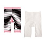 Cuddl Duds® Size 0-6M 2-Pack Pants in Stripe/Ivory