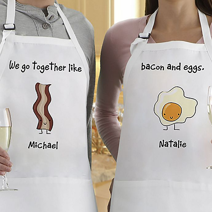 Alternate image 1 for We Go Together Aprons (Set of 2)