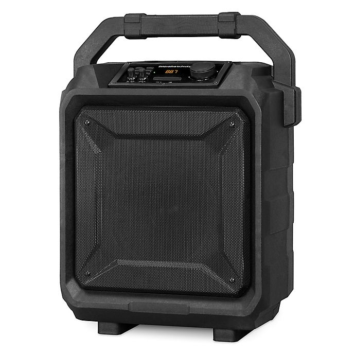 Alternate image 1 for Innovative Technology Outdoor Bluetooth Party Speaker in Black with Trolley