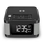 Wireless Clock Radio with Wireless Charging in Black