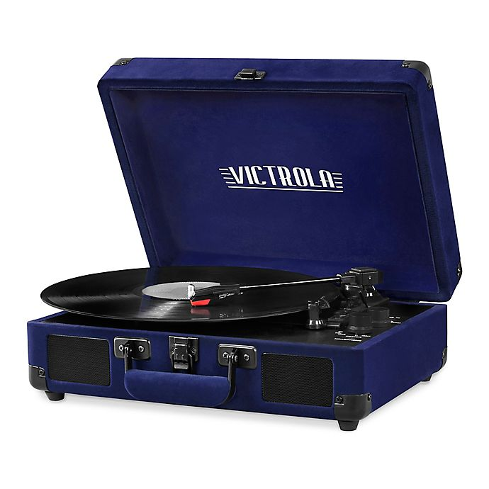 Alternate image 1 for Victrola™ Velvet Suitcase Bluetooth™ Record Player