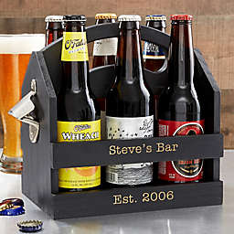 6-Pack Beer Caddy with Bottle Opener