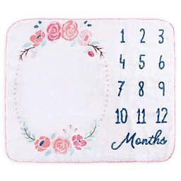 Hudson Baby® Milestone Floral Blanket