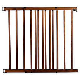 Evenflo® Walk-Thru™ Farmhouse Hardware-Mount Stairway Safety Gate in Brown
