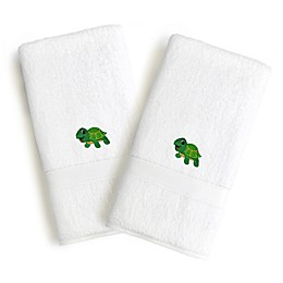 Linum Home Textiles Kids Turtle Terry Hand Towels (Set of 2)