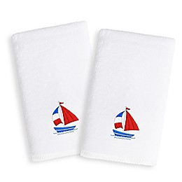 Linum Home Textiles Kids Boat Terry Hand Towels (Set of 2)