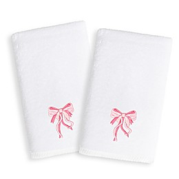 Linum Home Textiles Kids Bow Terry Hand Towels (Set of 2)