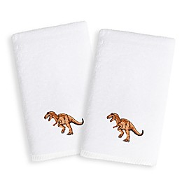 Linum Home Textiles Kids Dinosaur Terry Hand Towels (Set of 2)