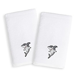 Linum Home Textiles Kids Shark Terry Hand Towels (Set of 2)