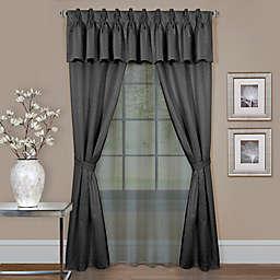 Claire 6-Piece Rod Pocket Window Curtain Set