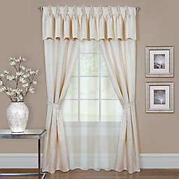 Claire 84-Inch Rod Pocket Window Curtain Panels in Ivory (Set of 6)