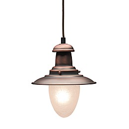 ELK Lighting Railroad 1-Light 7-Inch Pendant Ceiling Light in Antique Light