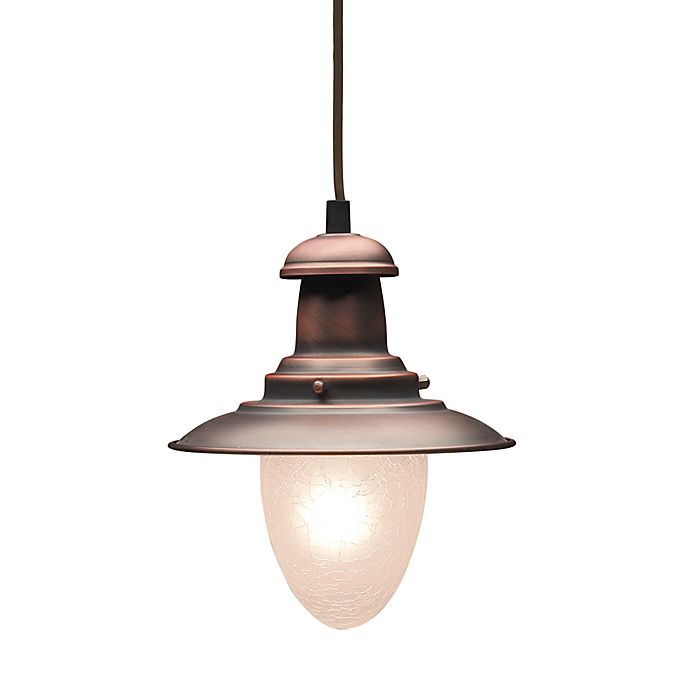 Alternate image 1 for ELK Lighting Railroad 1-Light 7-Inch Pendant Ceiling Light in Antique Light