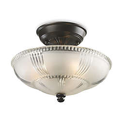 ELK Lighting Restoration 3-Light Semi-Flush Fixture in Oiled Bronze