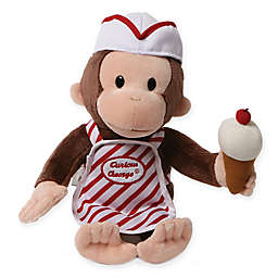 GUND® Curious George with Ice Cream Plush Toy