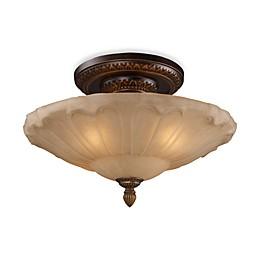 ELK Lighting Restoration 4-Light Semi-Flush Fixture in Golden Bronze