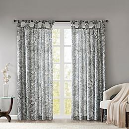Madison Park Yvette Paisley Printed Twist Tab Window Curtain Panel