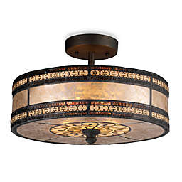 ELK Lighting Mica Filigree 2-Light Semi-Flush Mount Fixture