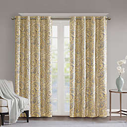 SunSmart Jenelle Paisley Grommet 100% Blackout Window Curtain Panel
