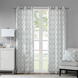 Madison Park Hayes Cotton Duck Grommet Window Curtain Panel Pair