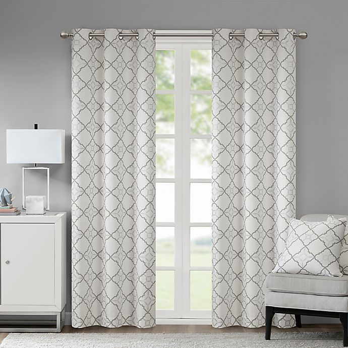 Alternate image 1 for Madison Park Hayes Cotton Duck 2-Pack Grommet Window Curtain Panels