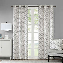 Madison Park Hayes Cotton Duck 2-Pack 63-inch Grommet Window Curtain Panels in Grey