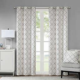 Madison Park Hayes Cotton Duck 2-Pack Grommet Window Curtain Panels