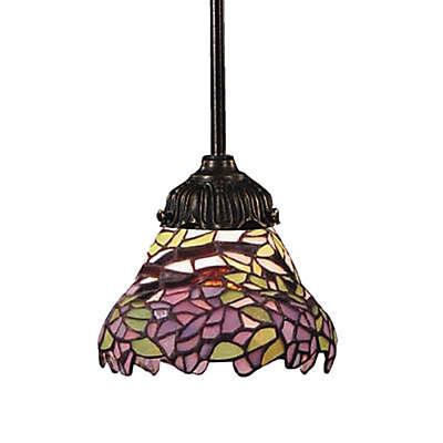 ELK Lighting Tiffany BronzeMix-N-Match 1-Light Pendant Lamp in Lilac