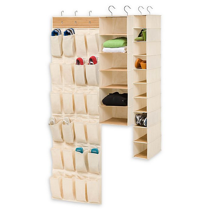 Alternate image 1 for Honey-Can-Do® Closet 3-Piece Organizing Kit in Natural