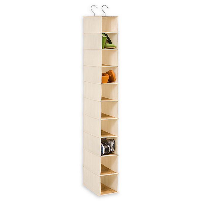 Alternate image 1 for Honey-Can-Do® 10-Shelf Hanging Shoe Organizer in Natural