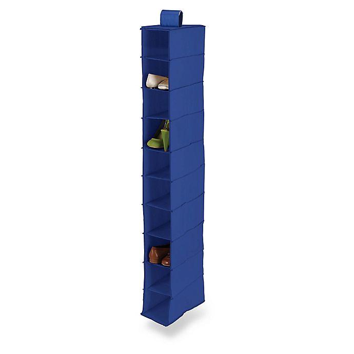 Alternate image 1 for Honey-Can-Do® 10-Shelf Hanging Shoe Organizer in Navy Blue