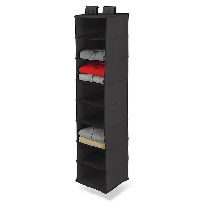 Alternate image 1 for Honey-Can-Do® 8-Shelf Hanging Closet Organizer in Black