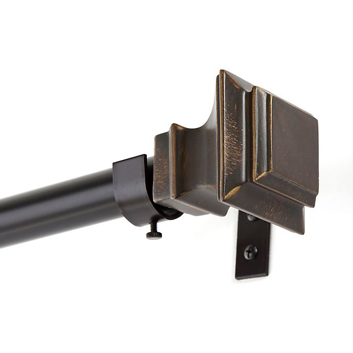 Alternate image 1 for Kenney® Lincoln Adjustable Curtain Rod in Oil Rubbed Bronze